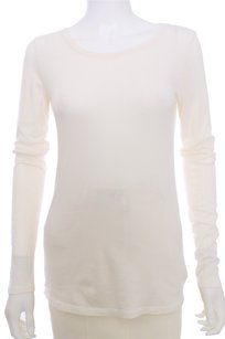 Other Majestic Filatures Paris Button Cotton Cashmere Longsleeve T Shirt Ivory