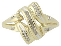 Other Diamond Ring - 10k Yellow Gold 14 Womens .10ctw