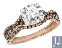 Other 14k Rose Gold Ladies Genuine Brown Diamond Infinity Engagement Bridal Ring 1.0ct
