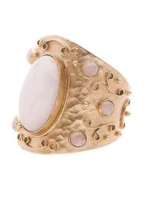 Stephanie Kantis 24k Gold Plated Bronze White Quartz Glory Bracelet