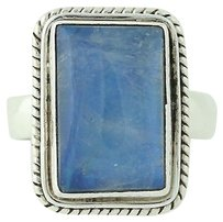 Other Blue Moonstone Ring - Sterling Silver Chunky Solitaire