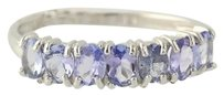 Tanzanite Ring - Sterling Silver 925 Womens Oval Cut 0.97ctw
