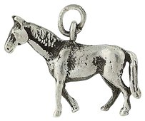 Other Horse Charm - Sterling Silver Equestrian Gift Three-dimensional