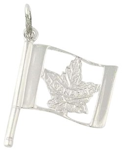 Other Canada Charm - Sterling Silver Canadian Flag Maple Leaf Pendant