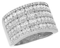 Other 14k White Gold Channel Real Diamond Mens Pinky Ladies Fashion Band Ring 2.5ct