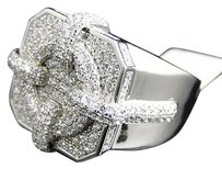 Mens Iced Out 3d Pave Simulated Lab Diamond Designer Fashion Pinky Band Ring