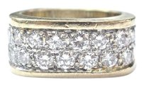 Other Fine 2-row Square Diamond Yellow Gold Jewelry Ring 20-stones 2.00ct E-vvs2 14kt