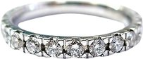 Fine Round Cut Diamond Eternity Band Ring Wg 1.16ct Sz 6