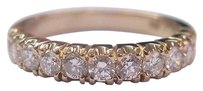 18kt,Round,Cut,Diamond,11-stone,Solid,Yellow,Gold,Band,Ring,.75ct