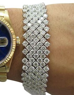 Fine,33.75ct,Carpet,Diamond,Tennis,Bracelet,Wg,18kt,
