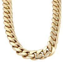 Solid 14k Yellow Gold Very Heavy Curb Link Chain Necklace 32 Long 483 Grams