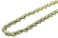 Mens Ladies 14k Yellow Gold Mm Hollow Rope Chain Necklace 20-30 Inches