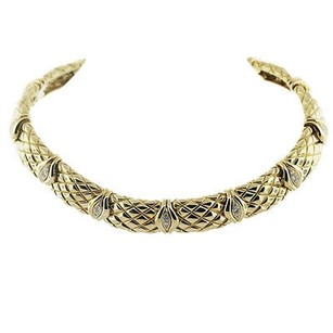Mauboussin 18k Yellow Gold Diamond Choker Necklace