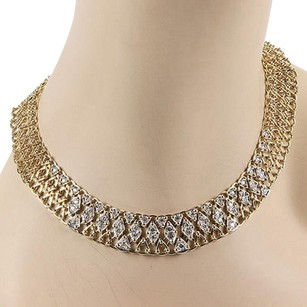 Other Garavelli Italy 18k Yellow Gold 4ct Diamond Mesh Link Designer Necklace