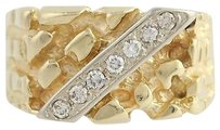 Other Diamond Cocktail Band - 10k Yellow White Gold Nugget Unisex 7-7 14 0.20ctw