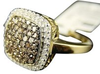 Other Brown,10k,Ladies,Unique,Brown,Diamond,Fashion,Ring,1,Ct