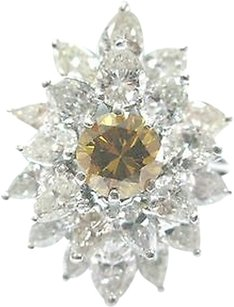 Other Platinum,Yellow,Orange,Diamond,Multi,Shape,Cocktail,Jewelry,Ring,5.20ct