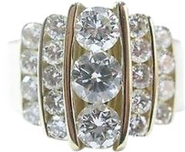 Fine Round Brilliant Diamond Cocktail Jewelry Yellow Gold Ring 2.36ct
