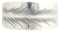Other Stuart Nye Feather Cuff Bracelet 14 - Sterling Silver Etched Womens