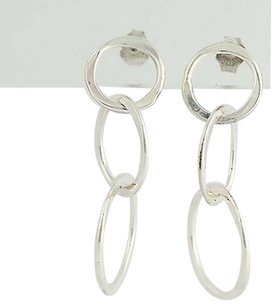 Other Circle Drop Earrings - Sterling Silver Graduated Pierced