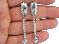 Other Fine Multi Color Diamond Drop Down Earrings 14kt 2.94ct