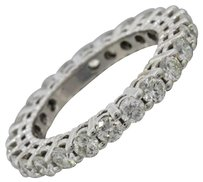 Other Modern Estate 14k Solid White Gold 2.40ctw Diamond Eternity Band Ring