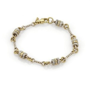 Other 1.40ct Moving Diamonds 18k 14k Two Tone Gold Fancy Ring Link Bracelet