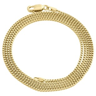 Other 10k Yellow Gold Solid Franco Box Chain Closed Link 1.25mm Necklace - Inch