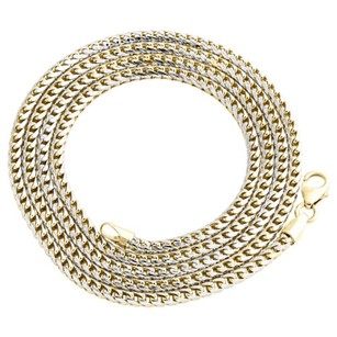 Other 10k Yellow Gold Solid Diamond Cut Franco Box Chain 2.75mm Necklace - Inch