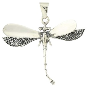 3d Dragonfly Pendant - Sterling Silver Chunky Insect Jewelry Mexico