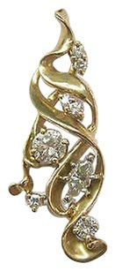 Fine,Cluster,Diamond,Pendant,Yellow,Gold,14kt,.80ct