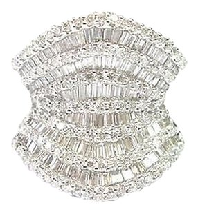 18kt,Multi,Shape,Diamond,Jewelry,Wide,Ring,Wg,3.00ct