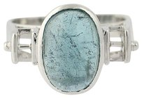 Other Indicolite Tourmaline Ring - 14k White Gold Modern Solitaire 4.75ct