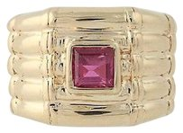 Other Ruby Ring - 14k Yellow Gold Textured July Birthstone Solitaire .38ct