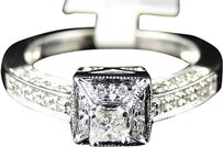 14k,White,Gold,Ladies,Princess,Diamond,Wedding,Engagement,Band,Ring,13,Ct