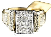 10k,Ladies,Yellow,Gold,Princess,Diamond,Engagement,Wedding,Band,Ring,1.13ct