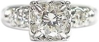 Fine Round Cut Diamond Anniversary Ring Wg .59ct