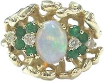 Other Fine,Gem,Emerald,Diamond,Opal,Yellow,Gold,Ring,14kt,1.68ct