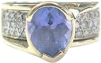 Fine,Gem,Tanzanite,Diamond,Yellow,Gold,Jewelry,Ring,14kt,3.53ct