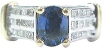 Fine,Gem,Sapphire,Diamond,2-tone,Diamond,Anniversary,Jewelry,Ring,14kt,2.22ct