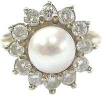 Other Fine,Diamond,Pearl,Yellow,Gold,Anniversary,Jewelry,Ring,7.9mm,1.00ct