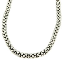Other Caviar Sterling Silver 7mm Caviar Beaded Necklace