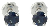 Other Sapphire Stud Earrings - 14k Gold Screw-on Closures Pierced 1.30ctw