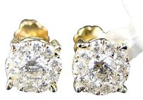 14k,Solitaire,Look,Vs,Diamond,Stud,Earrings,8,Mm,1.0,Ct