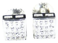 .55,Ct,White,Gold,Mensladies,Princess,Cut,Diamond,Stud,Earrings