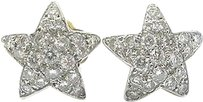 18kt,Diamond,Star,Stud,Yellow,Gold,Earrings,.50ct