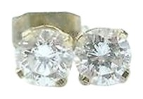 Other Fine Round Cut Diamond Stud Earrings Yg .60ct