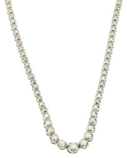 Elegant 3ct Diamond 18k White Gold Graduated Eternity Tennis Necklace