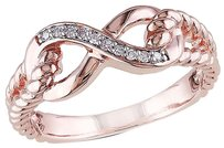 10k Pink Gold Diamond Infinity Swivel Crossover Fashion Journey Ring Gh I1i2