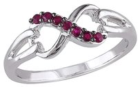 Sterling Silver 17 Ct Ruby Infinity Swivel Crossover Fashion Journey Ring